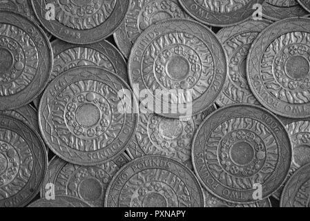 British two pound (£2) coins