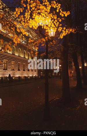 Parliament building in Riga in autumn - Stock Photo