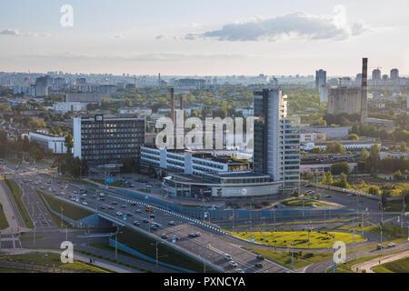 City Skyline on the outskirts of Minsk, Belarus - Stock Photo