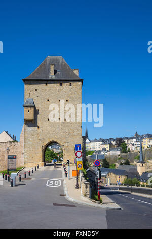 Luxembourg, Luxembourg City, Rham Plateau, Jacob Tower - Stock Photo