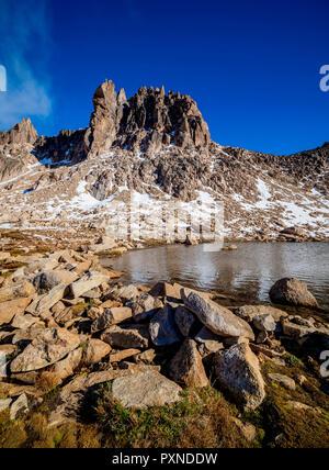 Schmoll Lagoon and Cerro Melisa, Nahuel Huapi National Park, Rio Negro Province, Argentina - Stock Photo