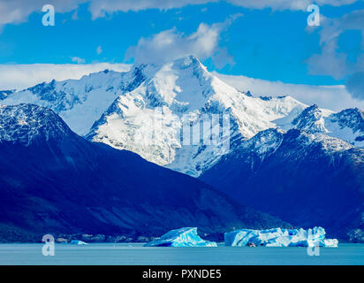 Icebergs on Lake Argentino, Los Glaciares National Park, Santa Cruz Province, Patagonia, Argentina - Stock Photo