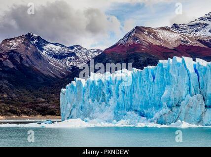 Perito Moreno Glacier, Los Glaciares National Park, Santa Cruz Province, Patagonia, Argentina - Stock Photo