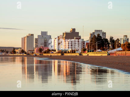 Beach in Puerto Madryn, The Welsh Settlement, Chubut Province, Patagonia, Argentina - Stock Photo