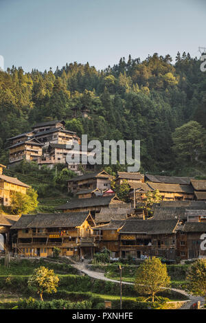 China, Guizhou, Miao settlement - Stock Photo