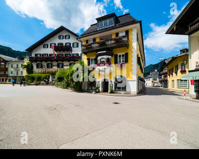 Austria, Salzkammergut, Sankt Gilgen, townscape - Stock Photo