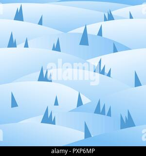 Winter holidays seamless pattern - Stock Photo