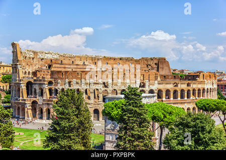 The Coliseum and the Triumphal arch of Constantine, view from the Capitoline Hill