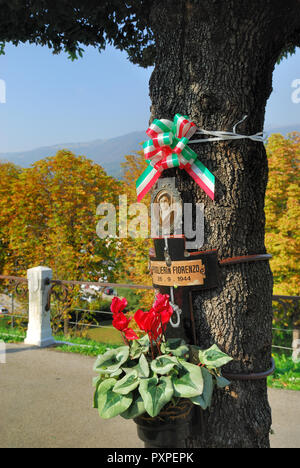 Bassano del Grappa,Veneto, italy. Commemoration of the 31 partisans hanged by the Nazis to the trees of today's Viale dei Martiri. - Stock Photo