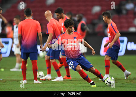 Kallang-Singapore-30Jul2018:Roberto olabe #30 player of Atletico madrid warm up during icc2018 between Atletico madrid against at paris saint-german a - Stock Photo