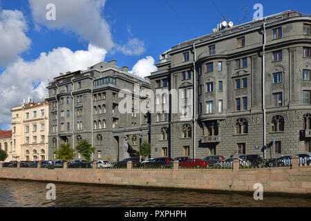 Profitable House Vege built by architect Ovsyannikov in early 20th c. Kryukov Canal Embankment - Stock Photo