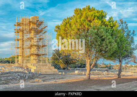 The Acropolis of Rhodes is a temple dating from the Classical Greek period located not far from the centre of the city of Rhodes. - Stock Photo