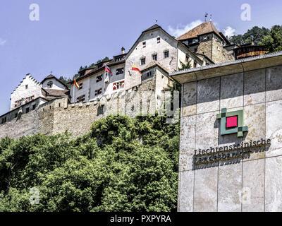 Bank building of Liechtensteinische Landesbank, Principality of Liechtenstein - Stock Photo