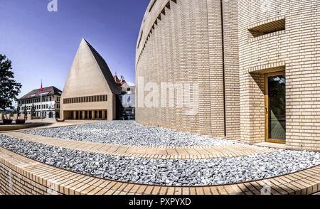 Parliament in Vaduz, Principality of Liechtenstein, Europe - Stock Photo
