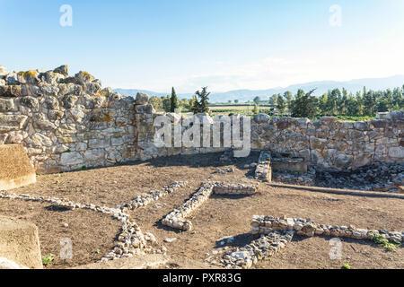 Greece, Peloponnese, Argolis, Tiryns, archaeological site, - Stock Photo