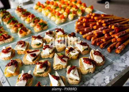 cold snacks for guests - Stock Photo