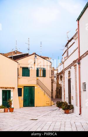 Italy, Molise, Termoli, Old town - Stock Photo
