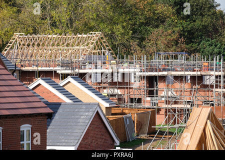 new houses being built in loughborough - Stock Photo