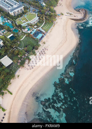 Indonesia, Bali, Aerial view of Nusa Dua beach - Stock Photo