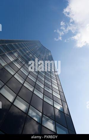 Germany, Leipzig, facade of City-Hochhaus - Stock Photo