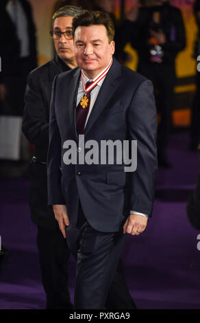 London, UK. 23rd October, 2018. London, UK. 23rd Oct 2018. Mike Myers attends the World Premiere of 'Bohemian Rhapsody' at SSE Arena Wembley on October 23, 2018 in London, England Credit: Gary Mitchell, GMP Media/Alamy Live News Credit: Gary Mitchell, GMP Media/Alamy Live News - Stock Photo