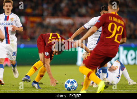 Rome, Italy, 23rd October, 2018. Roma's Cengiz Under in action during the Champions League Group G soccer match between Roma and CSKA Moscow at the Olympic Stadium. Roma won 3-0. © Riccardo De Luca UPDATE IMAGES/ Alamy Live News - Stock Photo