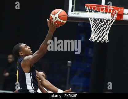Nizhny Novgorod, Russia. 23rd Oct, 2018. Charlon Kloof (UCAM) seen in action during the game.Basketball Champions League. BCNN Met BC Nizhny Novgorod (Russia) vs UCAM Murcia Spain. The game ended with the score 51: 72. Credit: Aleksey Fokin/SOPA Images/ZUMA Wire/Alamy Live News