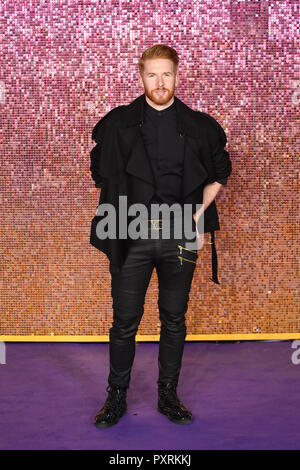 London, UK.  23 October 2018. Neil Jones arrives for the worldwide premiere of the movie 'Bohemian Rhapsody' at The SSE Arena in Wembley. Credit: Stephen Chung / Alamy Live News - Stock Photo