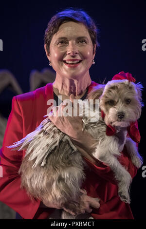 London, UK. 23rd Oct 2018. UK premiere of Link Link one-woman show by actress Isabella Rossellini at Southbank Centre. Credit: Guy Corbishley/Alamy Live News - Stock Photo