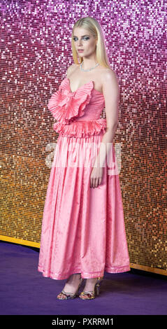 Lucy Boynton attends the World Premiere of 'Bohemian Rhapsody' at SSE Arena Wembley. - Stock Photo
