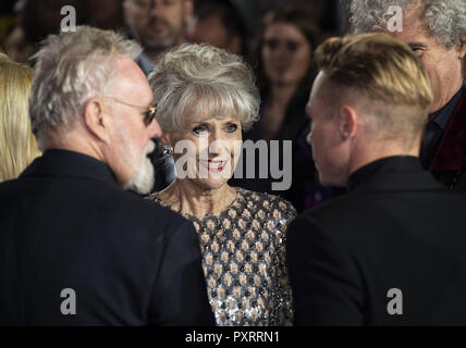 London, UK. 23rd Oct, 2018. Anita Dobson attends the World Premiere of 'Bohemian Rhapsody' at SSE Arena Wembley. Credit: Gary Mitchell/SOPA Images/ZUMA Wire/Alamy Live News - Stock Photo