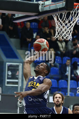 Charlon Kloof (UCAM) seen in action during the game. Basketball Champions League: BC Nizhny Novgorod (BCNN) from Russia vs Ucam Murcia Club Baloncesto (UCAM) from Spain. The game ended with the score 51: 72.