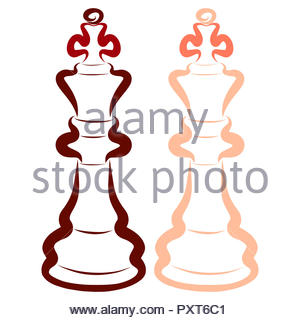 Two kings, chess pieces, dark and light - Stock Photo