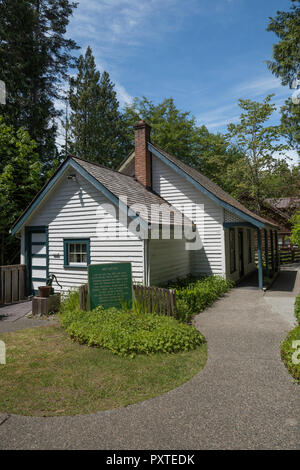 Moss Cottage is the oldest standing building in the town of Sooke on Vancouver Island, British Columbia, Canada. - Stock Photo