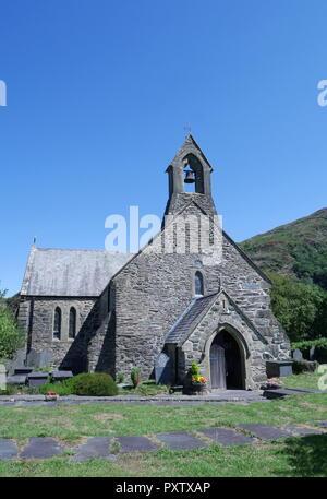 St Mary's Church, Beddgelert, Gwynedd, Snowdonia, North Wales, United Kingdom