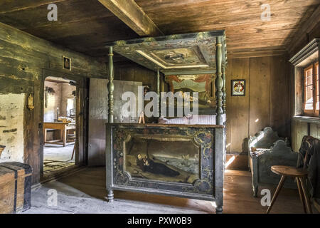 Farm and Winter Sports Museum, Schliersee, Bavaria - Stock Photo