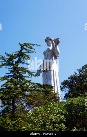 Georgia, Tbilisi, Kartlis Deda monument - Stock Photo