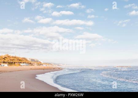 Italy, Molise, Termoli, beach at early morning - Stock Photo