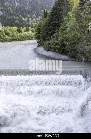Lech Falls bear Füssen, Bavaria, Germany - Stock Photo