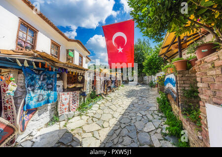 Turkey, Selcuk, alley in Sirince - Stock Photo