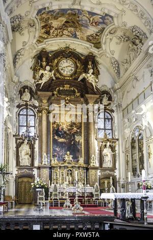 Kloster Benediktbeuern, Oberbayern, Bayern, Deutschland - Stock Photo