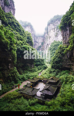 China, Sichuan Province, Wulong Karst National Geology Park - Stock Photo