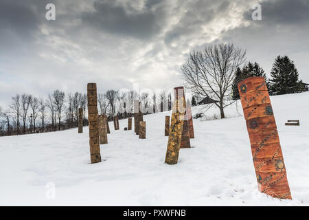 at at the Stone Quarry Hill Art Park in the town of Cazenovia in Madison County in Central New York. - Stock Photo