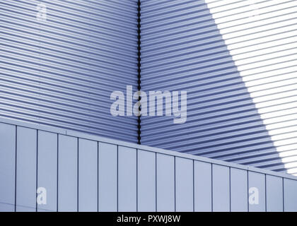 Architekturdetail, Metallverkleidungen - Stock Photo