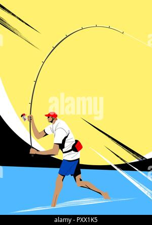 Various sports players with dynamic colorful scratched vector illustration 029 - Stock Photo