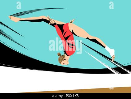 Various sports players with dynamic colorful scratched vector illustration 027 - Stock Photo