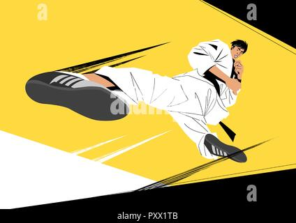 Various sports players with dynamic colorful scratched vector illustration 021 - Stock Photo