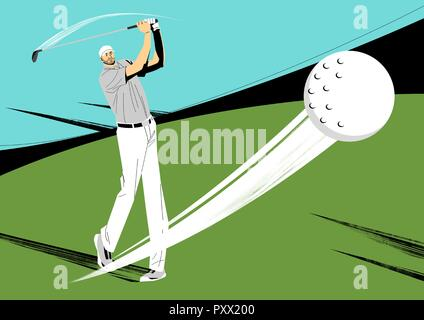 Various sports players with dynamic colorful scratched vector illustration 018 - Stock Photo