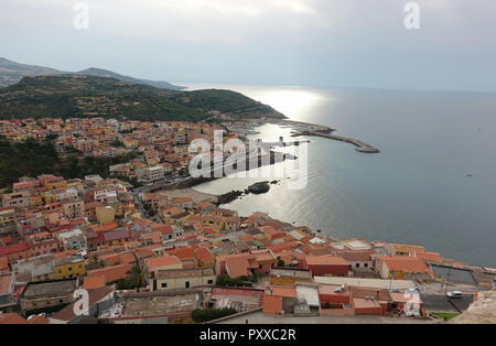 A  view over Castelsardo Sardinia Italy - Stock Photo