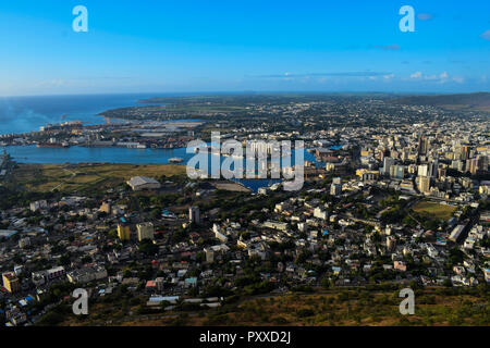An overview of Port Louis - Stock Photo